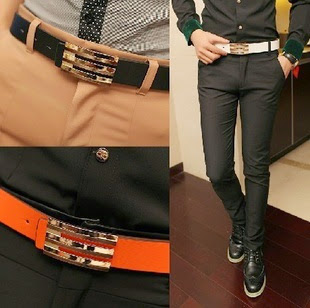Hot Sale Men Belt Korean-Narrow Belt FreeThin Belt Free